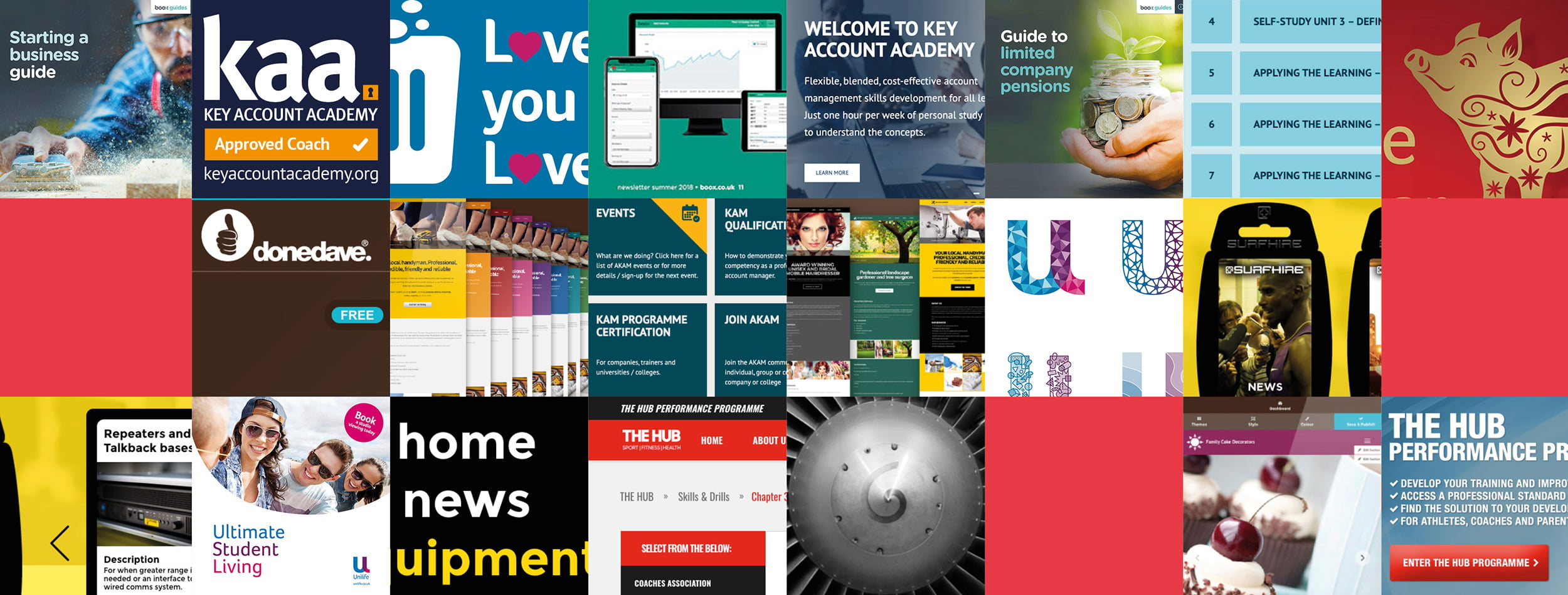 Graphic and Website Design montage DRA Create
