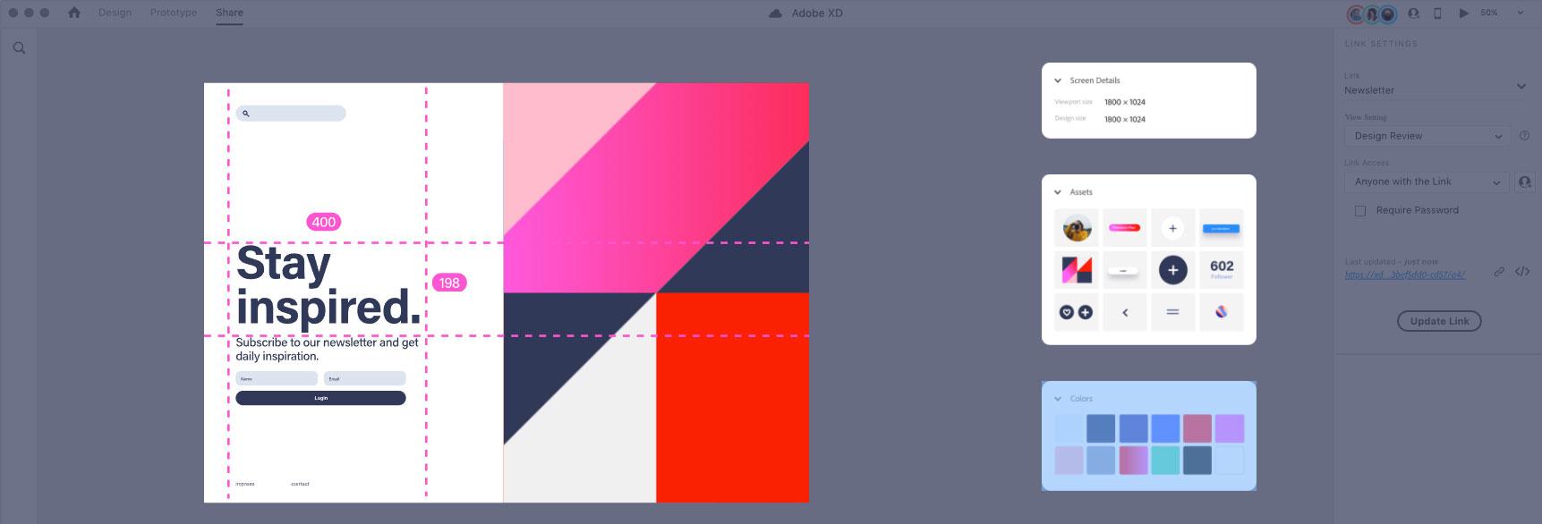Adobe XD App Prototype