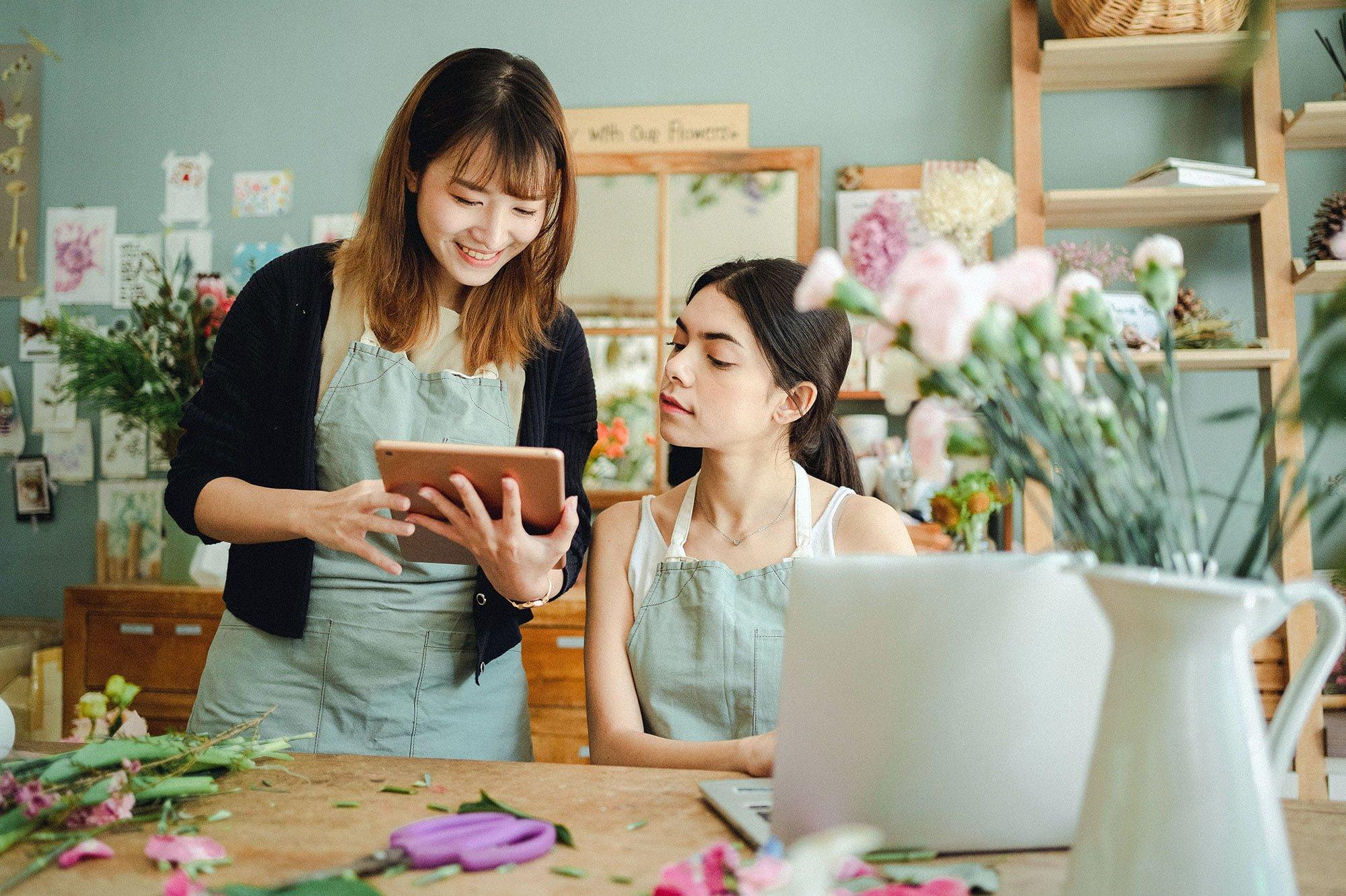 Browsing online florist