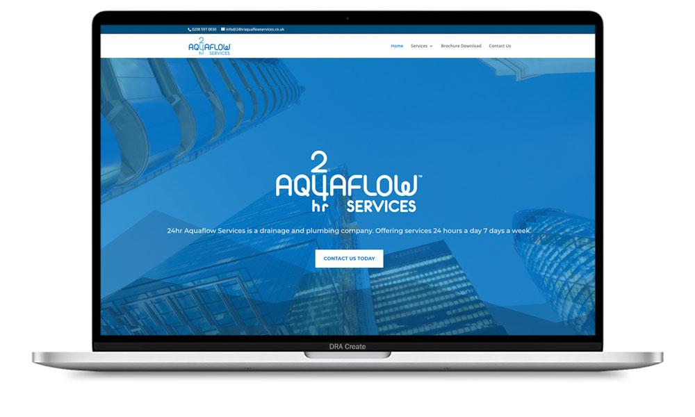24 hour Aquaflow Services website design