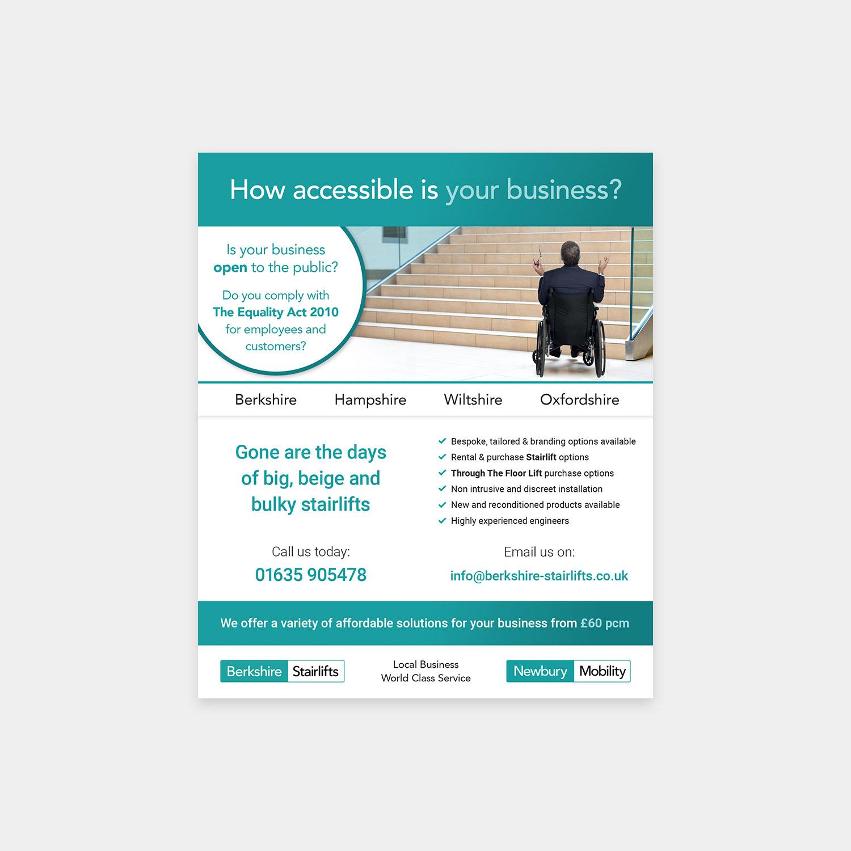 Berkshire Stairlifts advert design