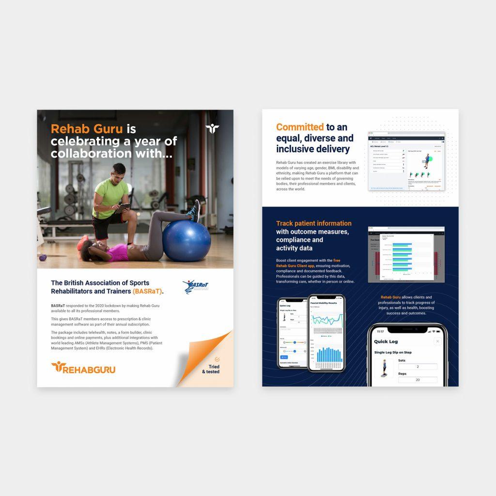Rehab Guru website & graphic design