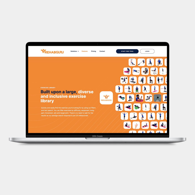 Rehab Guru website design