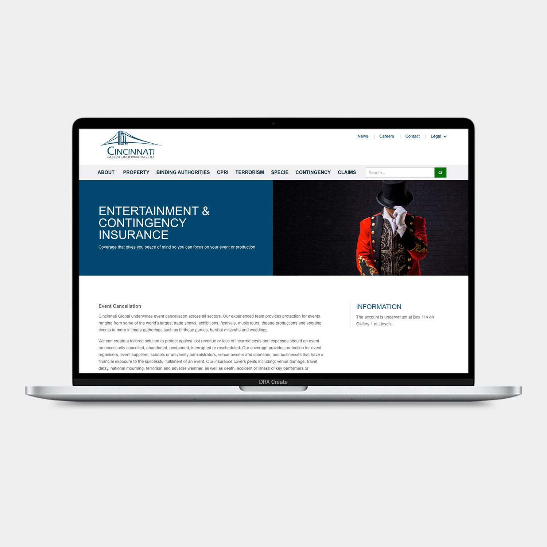 Cinfin Global website design