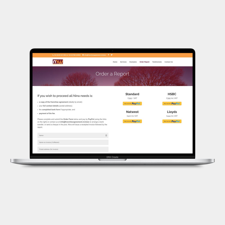Franchise Agreement Reviews website design