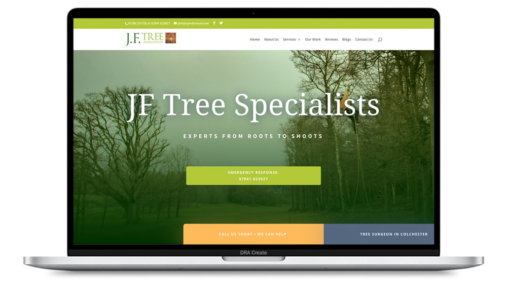 JF Tree Surgery Web Design