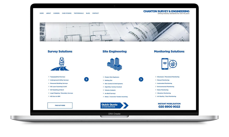 Chanton website design