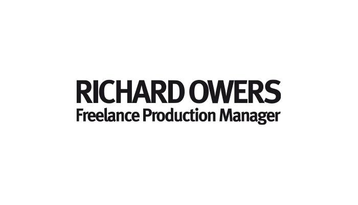 Richard Owers Freelance Production Manager