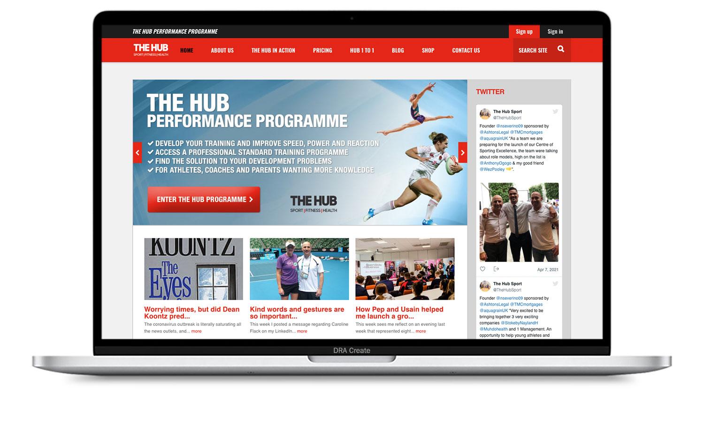 The Hub Sport website design